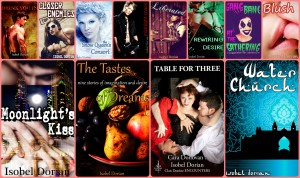 Click on image to read titles put out using the pen name Isobel Dorian
