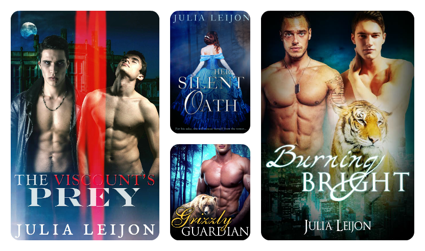 Click on the covers imageto see titles put out using the pen name Julia Leijon