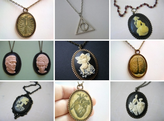 Selection of Etsy items.