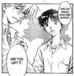 Kaworu and Shinji from the Evangelion manga